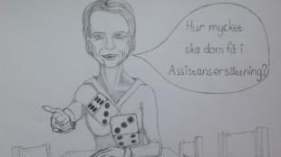 Statsrådet Åsa Regnér (s) kastar tärning